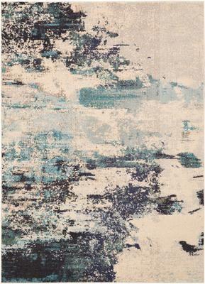 Tapis design bleu ivoire Celestial