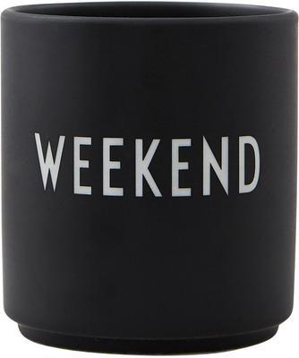 Mug design en porcelaine Favourite avec lettrage WEEKEND