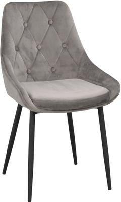 Krzesło tapicerowane z aksamitu Alberton, 2 szt.