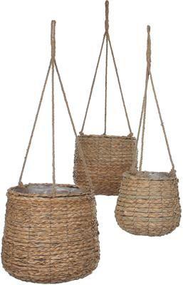 Set de macetas colgantes Avalon, 3uds., con bolsa de plástico