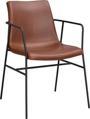 Krzesło z podłokietnikami ze sztucznej skóry Huntington, 2 szt.