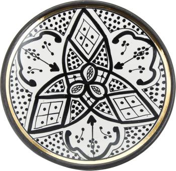 Handgemaakt Marokkaans ontbijt Assiette met goudkleurige rand