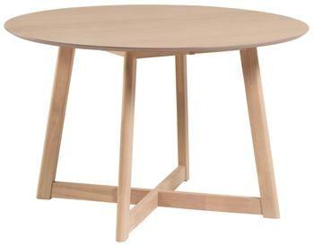 Kulatý skládací stůl sdubovou dýhou Maryse