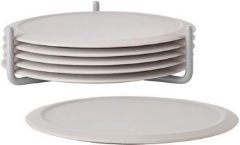 Sottobicchieri in silicone con supporto Plain 6 pz