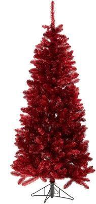 Decoratieve kerstboom Colchester in rood