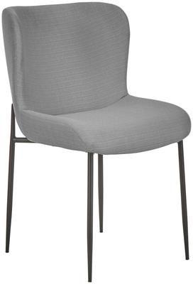 Chaise rembourrée grise Tess