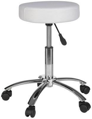 Tabouret de bureau à hauteur ajustable avec roulettes Leon