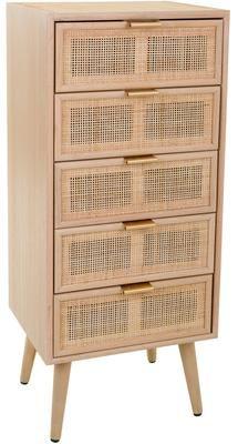 Szafka z szufladami z drewna Cayetana