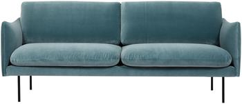 Canapé 2places velours turquoise Moby