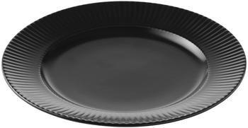 Piattino da dessert nero con struttura rigata Groove 4 pz