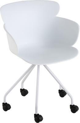 Chaise de bureau en plastique à roulettes Eva
