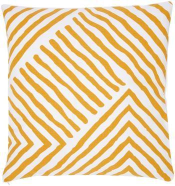 Kussenhoes met patroon Mia in oranje/wit