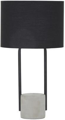 Lampada da tavolo con base in cemento Pipero
