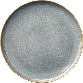 Speiseteller Saisons aus Steingut in Blau, 6 Stück