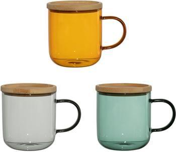 Tasse à thé avec sous-tasse/couvercle Dilacia, 3pièces