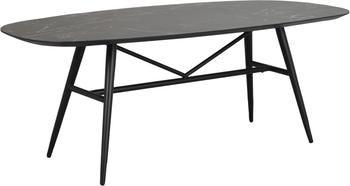 Jedálenský stôl s mramorovým vzhľadom Springdale, 200 x 98 cm