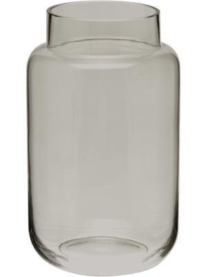 Grand vase en verre gris Lasse