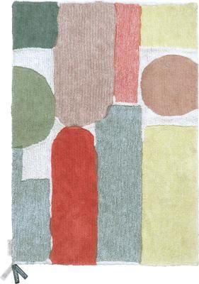 Tappeto in lana lavabile con motivo colorato Woolable Abstra