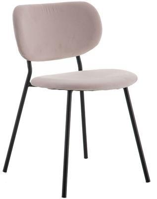 Krzesło tapicerowane z aksamitu Elyse
