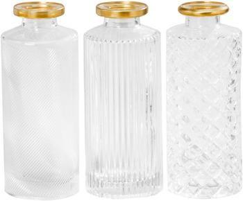 Komplet małych wazonów ze szkła Adore, 3 elem.