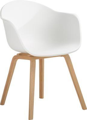 Stolička z umelej hmoty s opierkami Claire