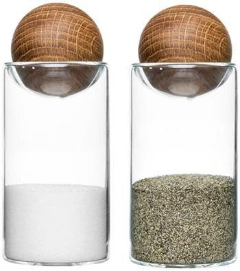Salero y pimentero de vidrio soplado Eden, 2uds.