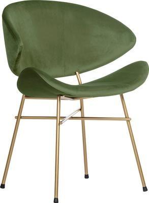 Krzesło tapicerowane z weluru Cheri