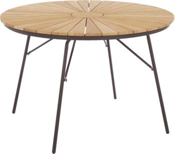 Tavolo rotondo da giardino con piano in legno di teak Hard & Ellen