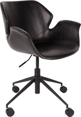 Chaise de bureau en cuir synthétique à hauteur ajustable Nikki
