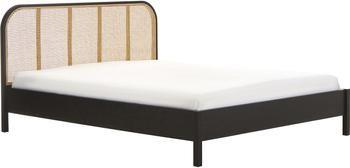 Łóżko z drewna i plecionki wiedeńskiej Jones