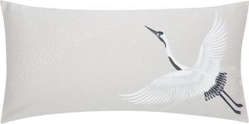 Povlak na polštář z bavlněného saténu s motivem jeřába Yuma, 2 ks