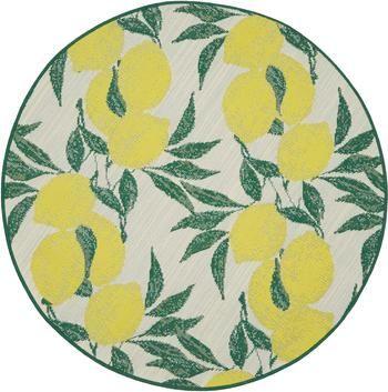 In- & Outdoor-Teppich Limonia mit Zitronen Print