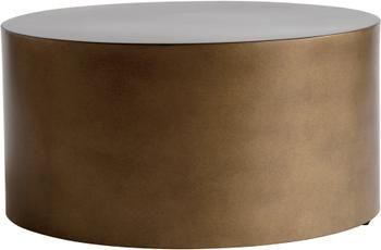 Runder Metall-Couchtisch Metdrum in Honigfarben