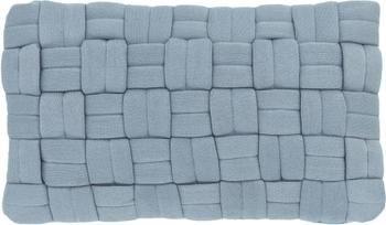 Housse de coussin rectangulaire bleu Norman