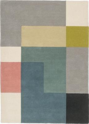 Designteppich Ometri aus Wolle, handgetuftet