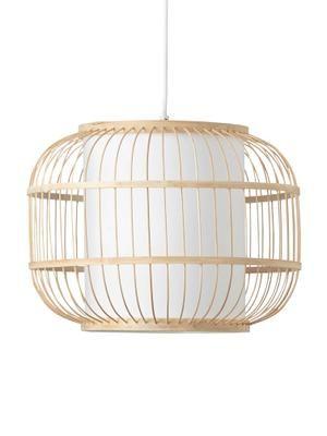 Lampa wisząca z drewna bambusowego Bones