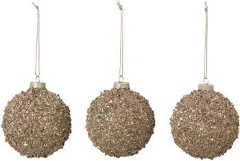 Kerstballen Glitter Ø 8 cm, 3 stuks