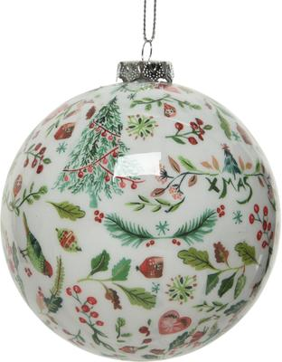 Breukvaste kerstballen Mistle Ø 8 cm, 4 stuks