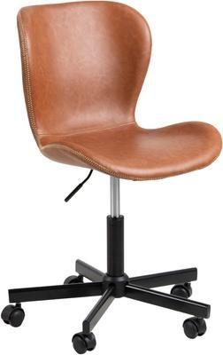 Chaise de bureau en cuir synthétique Batilda, hauteur réglable