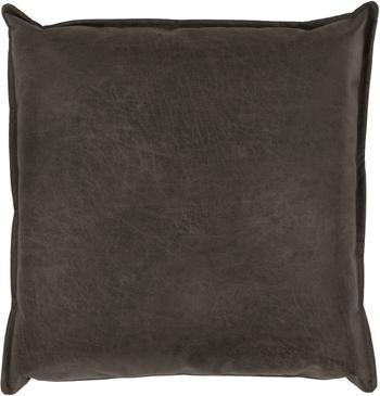 Coussin canapé 60x60 cuir recyclé brun gris Lennon