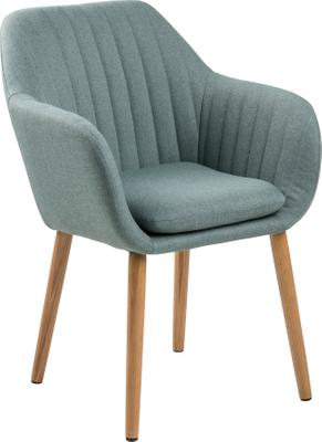 Chaise velours vert olive avec accoudoirs Emilia
