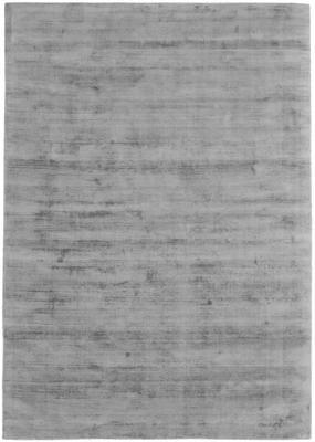 Tappeto in viscosa color grigio tessuto a mano Jane