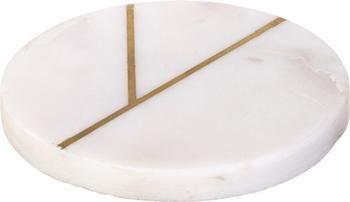 Sottobicchiere in marmo con dettagli dorati Marek 4 pz