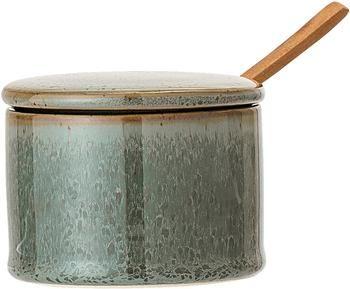 Zuccheriera in terracotta con cucchiaio di legno Pixie