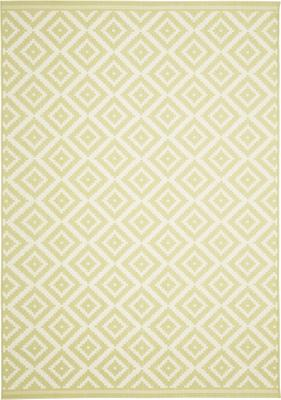 Gemusterter In- & Outdoor-Teppich Miami in Gelb/Weiß