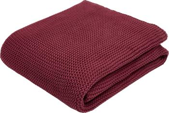 Plaid tricot rouge foncé Aladyn