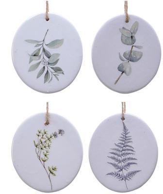 Set 4 ciondoli albero di Natale Flory Ø 8cm