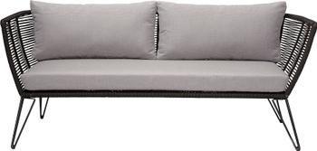 Canapé lounge jardin plastique tressé Mundo