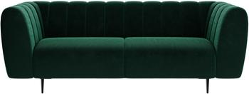 Sofa z aksamitu Shel (3-osobowa)