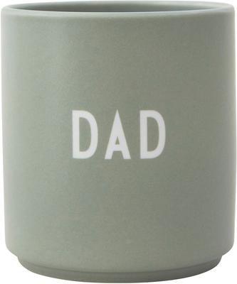Mug design en porcelaine Favourite avec lettrage DAD/LOVE